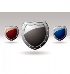 metal shield icons vector image vector image