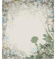 retro grass background vector image