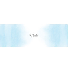abstract light blue watercolor stain vector image
