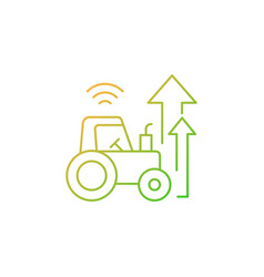 Agricultural modernization gradient linear icon vector