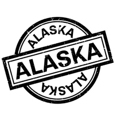 Alaska rubber stamp vector image