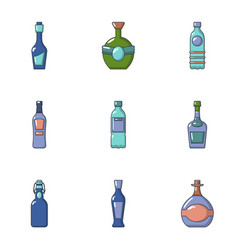 alcohol abuse icons set cartoon style vector image