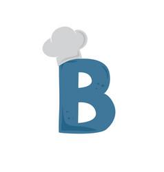 Alphabet initial chef hat restaurant theme logo vector