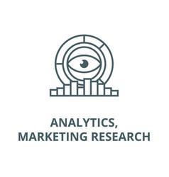 analyticsmarketing research diagrams line icon vector image
