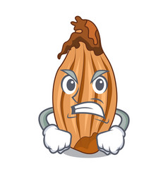 Angry ripe shallot isolated on a mascot vector