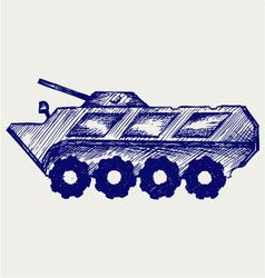 Armored troop-carrier vector image