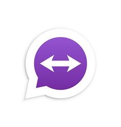 Arrows in speech bubble icon vector image