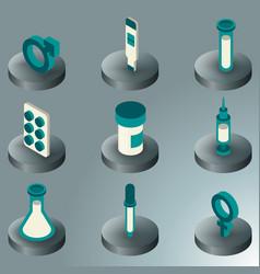 artificial insemination icon set vector image