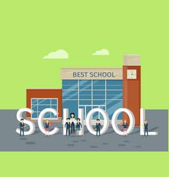 Best school flat style concept vector