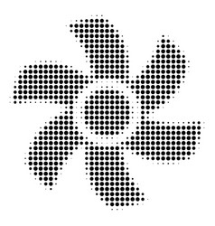 Black dotted rotor icon vector