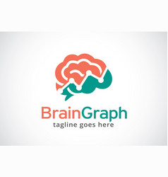 brain graph logo template design vector image