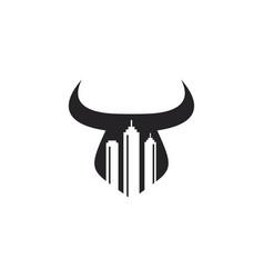 bull town logo vector image