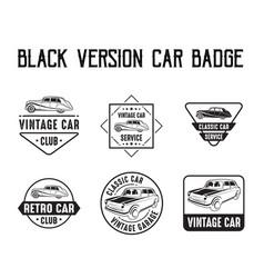 car badge and logo good for print vector image