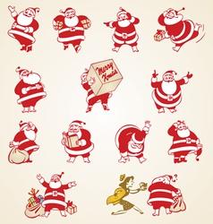 Christmas Santa Claus vintage vector image