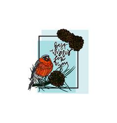 christmas winter greeting card vector image