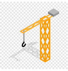 construction crane isometric icon vector image