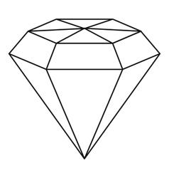Diamond gemstone icon outline style vector image