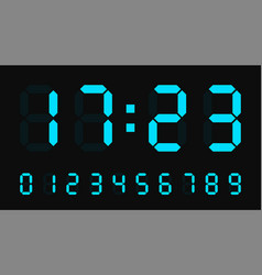 Digital led numbers electronic or clock vector