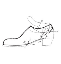 Dress shoe is an item of footwear evolved vintage vector