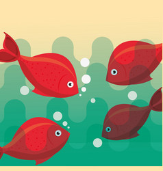 fishing fish cartoon vector image