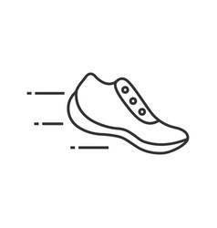 Flying sneaker linear icon vector