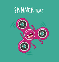 funny spinner set stress relieving toy vector image