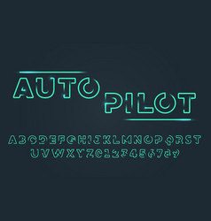 Futuristic typography cyber technology font vector