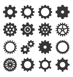 gear icons set on white background vector image