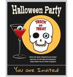 Halloween zombie party invitation vector