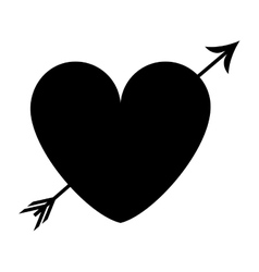 heart cartoon with arrow icon image vector image