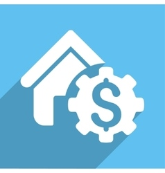 House Rent Options Long Shadow Square Icon vector