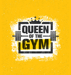inspiring woman female workout and fitness gym vector image