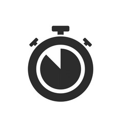 isolated stopwatch icon five to on a white vector image
