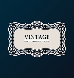 Label framework Vintage banner decor vector image