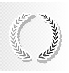 laurel wreath sign new year blackish icon vector image