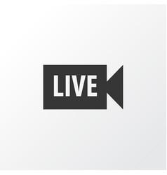 Live video icon symbol premium quality isolated vector