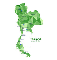 map thailand vector image