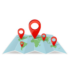 Map with pointer navigations navigation concept vector