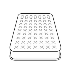 mattress flat icon vector image
