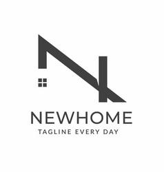 Minimalist home logo design template vector