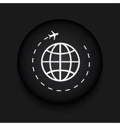 modern tourism black circle icon vector image