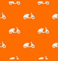 motorbike pattern seamless vector image