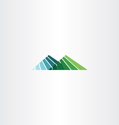 Mountain hill logo icon sign vector