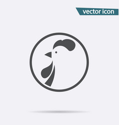 New year 2017 cock icon isolated on background mo vector