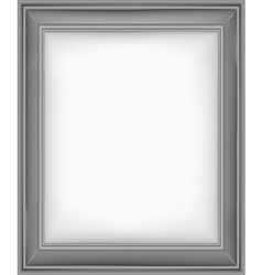 picture frame grey vector image