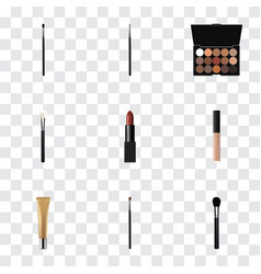 realistic powder blush beauty accessory make-up vector image