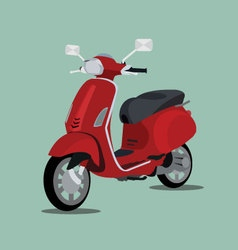 Red scooter 3d vector