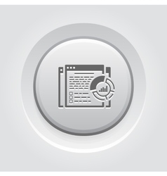 Report Icon Grey Button Design vector