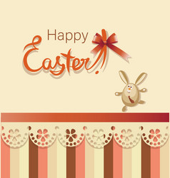 running easter bunny happy easter vector image