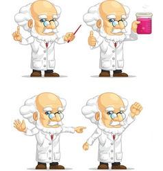 Scientist or Professor Customizable Mascot 11 vector image